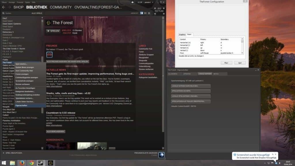Steam Bibliothek > Eigenschaften > Lokale Dateien > Lokale Dateien durchsuchen