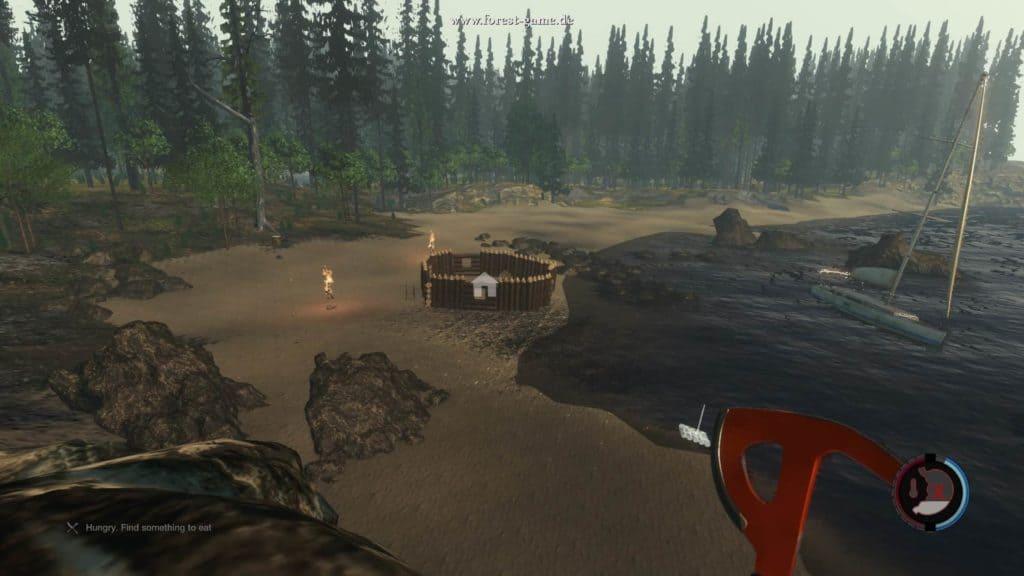 The Forest - Meine kleine Festung. Fürchtet euch. Tolle übersichtliche Lage übrigens.
