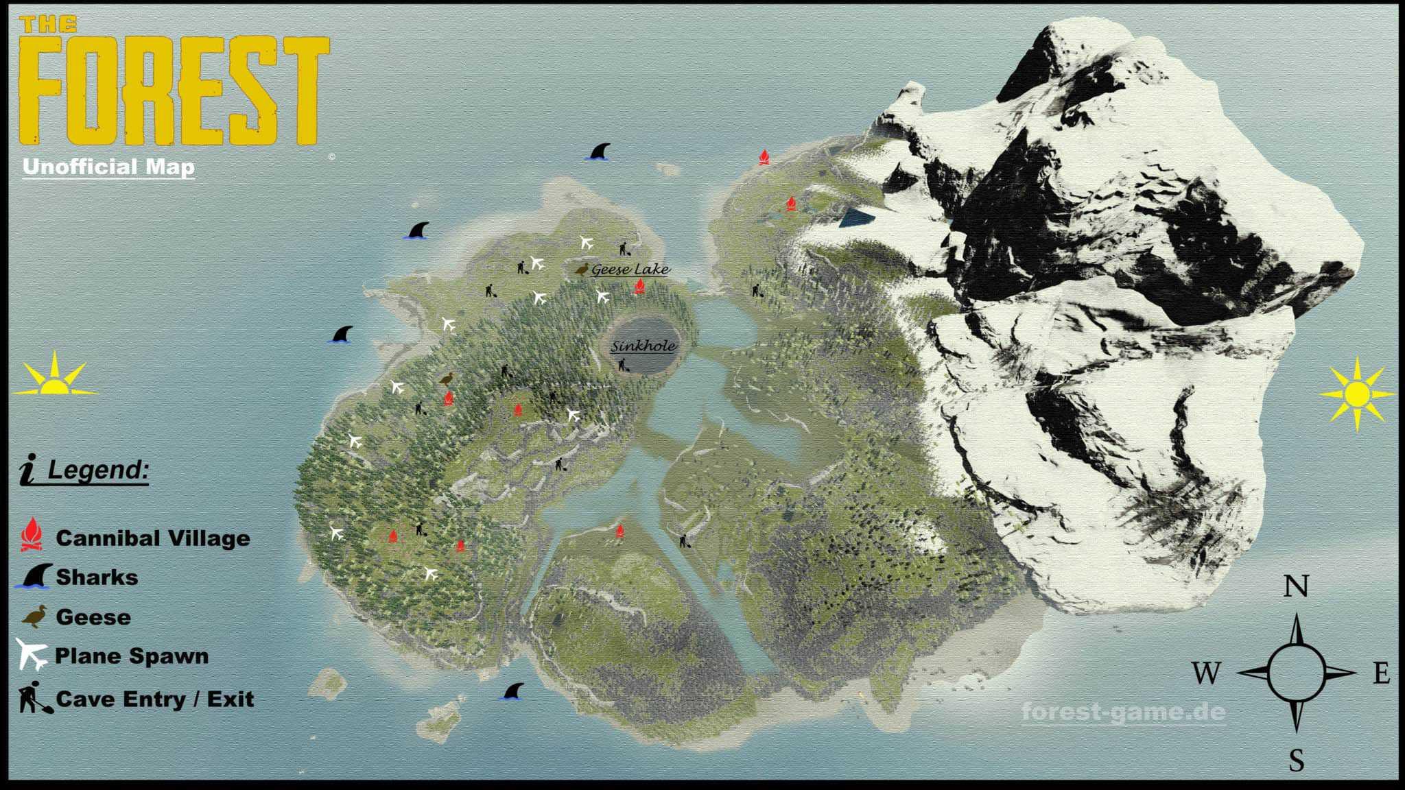 the forest karte Karten & Maps zu