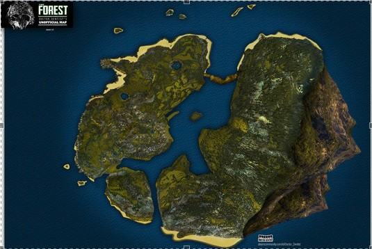 The Forest Poster - Doctor Dentis Map in der Clean Version
