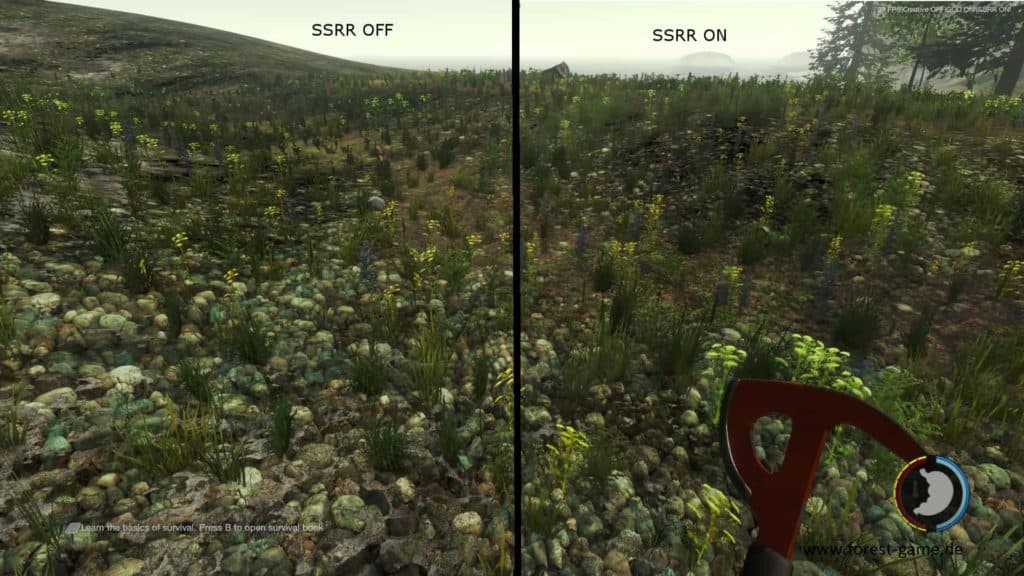 The Forest SSRR Taste - Grafikvergleich