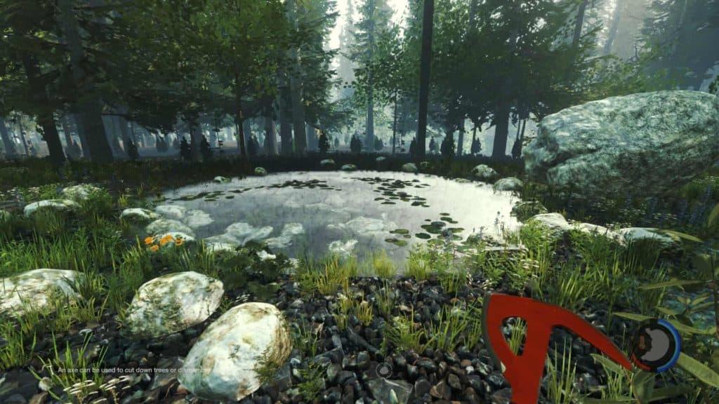 The Forest 0.06 korrekte Wasserspiegelung auf höchster Grafikleistung