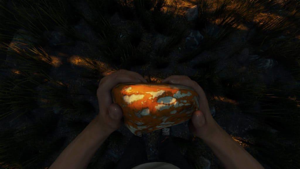 Ein eingefärbter Stein in der Version 0.12
