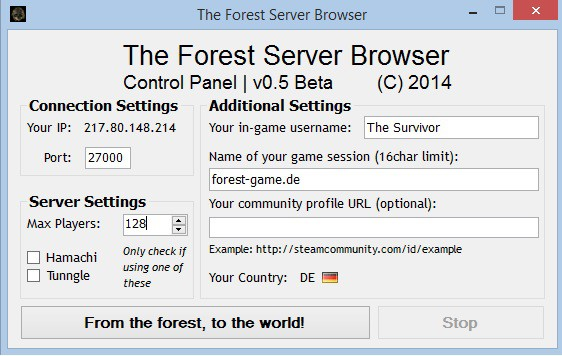 Inoffizieller Server Browser