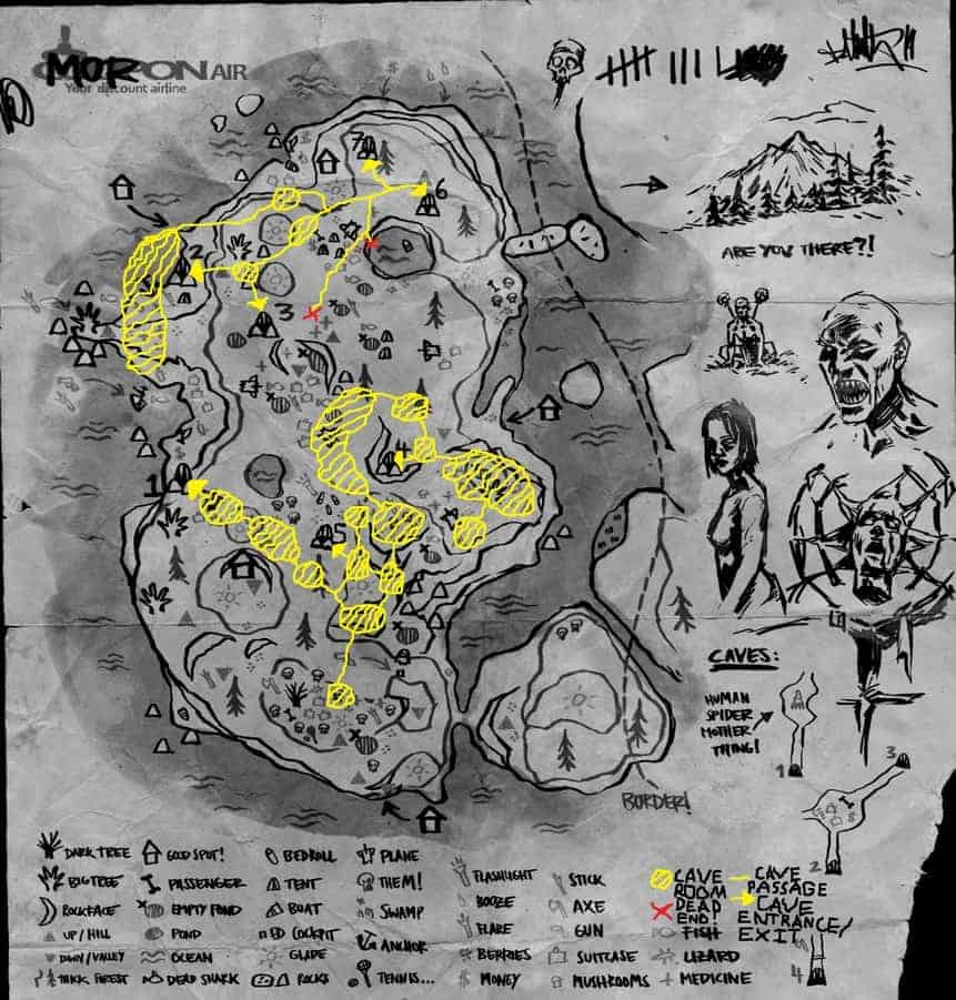 The Forest Cave Map