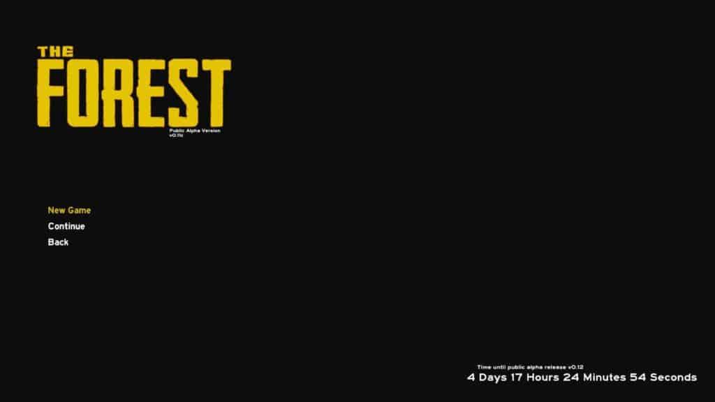 Bild 7: The Forest starten und ein neues Spiel eröffnen (Coop menü)