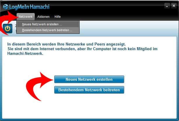 Bild 3: Ein neues Netzwerk wird erstellt.