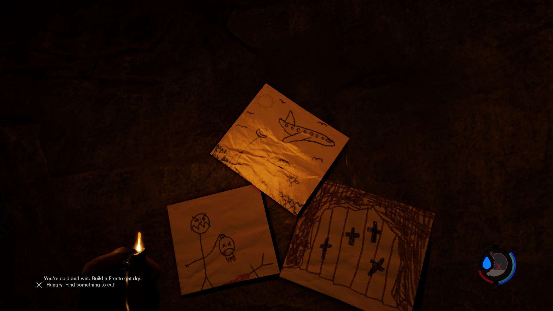 Malereien des Sohnes in v20 und Höhle 7
