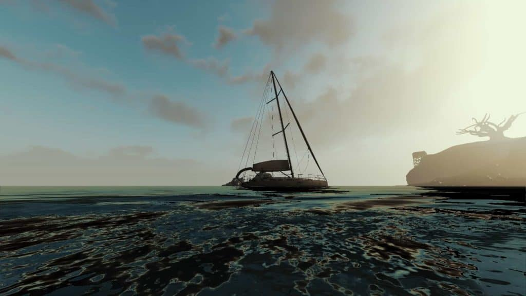 Screenshot Foto Perspektive der Yacht
